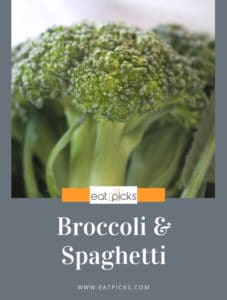 broccoli and spaghetti is a simple and delicious dish as well as economical for meal planning. #recipe #easydish #mealplanning