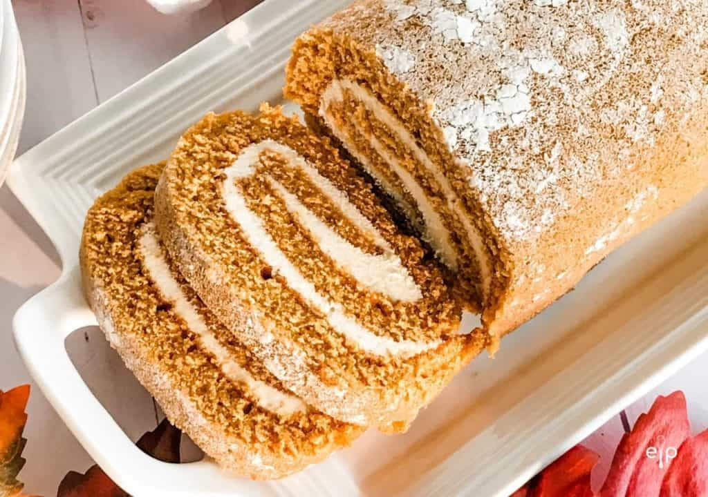 Holiday Pumpkin Roll Dessert