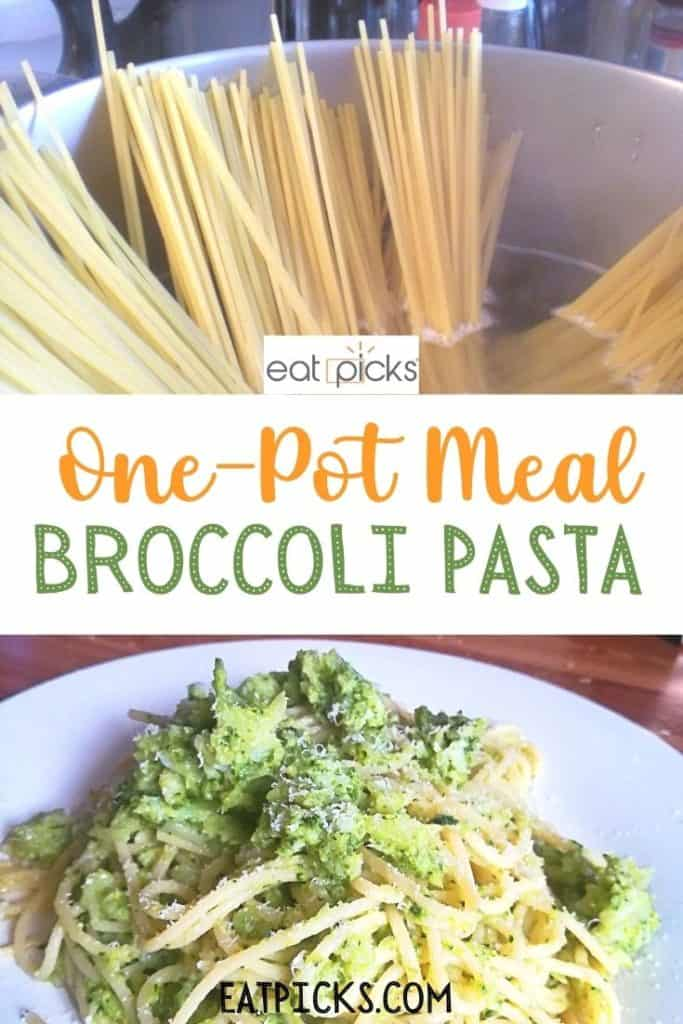 One pot Meal Broccoli Pasta