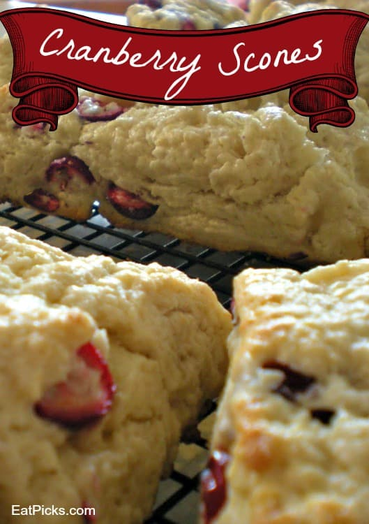 cranberry scones recipe is perfect baked treat for breakfast.