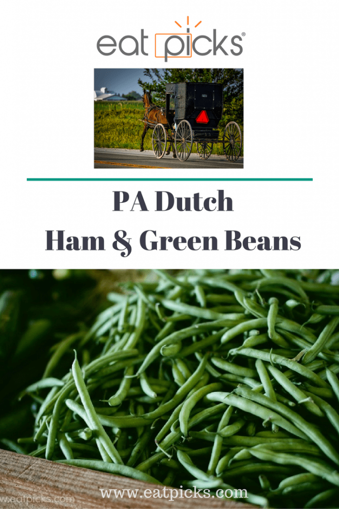 PA Dutch Ham & Green Beans is a simple, hearty dish you can make for an easy dinner. Bonus recipe for leftovers is included in this yummy post!