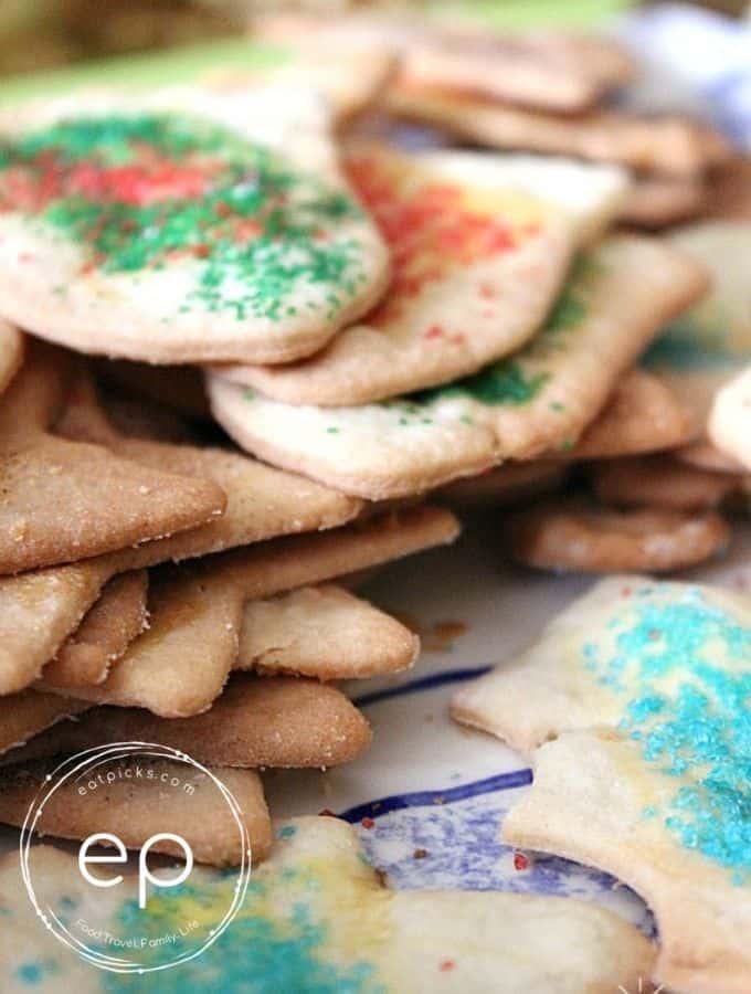 Sand Tart Cookies on plate