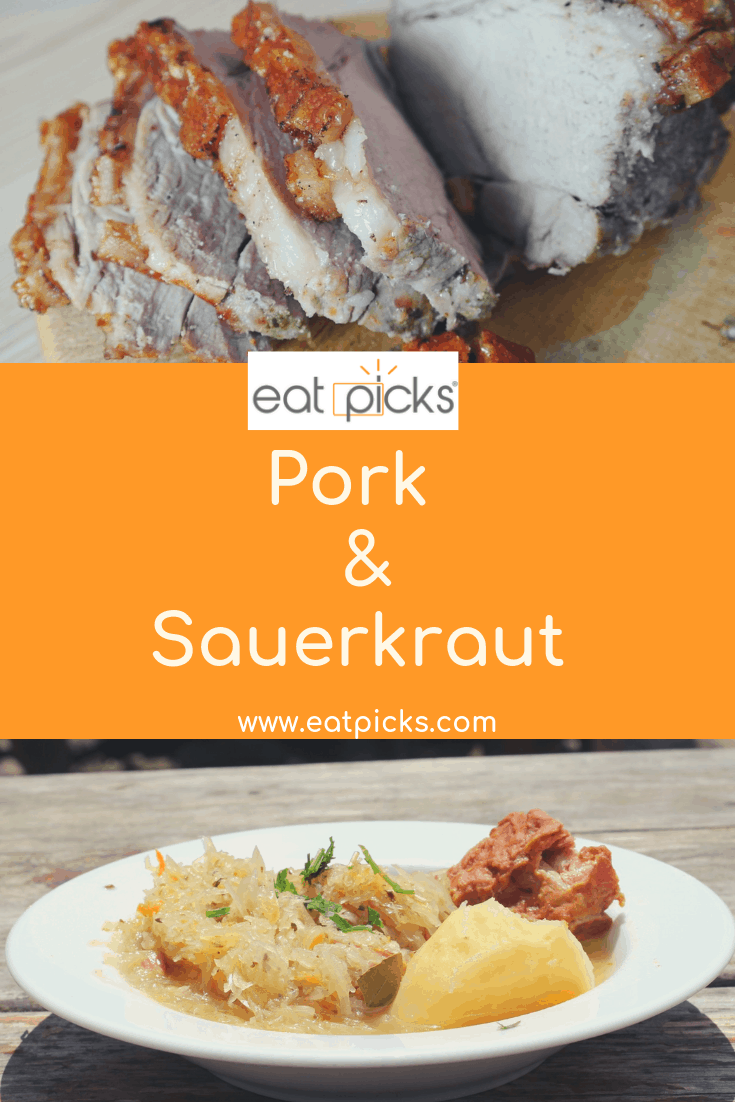 Pork and sauerkraut a traditional PA Dutch New Year day Meal. #holidaymeals