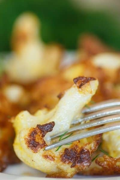 Pan fried cauliflower