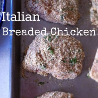 Italian Breaded Chicken on Tray
