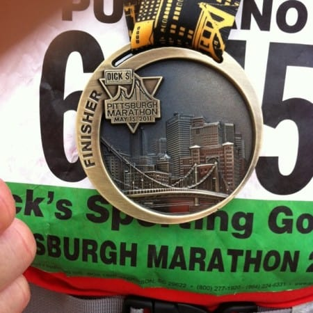 Pittsburgh Marathon Medal well earned after 26.2 miles!