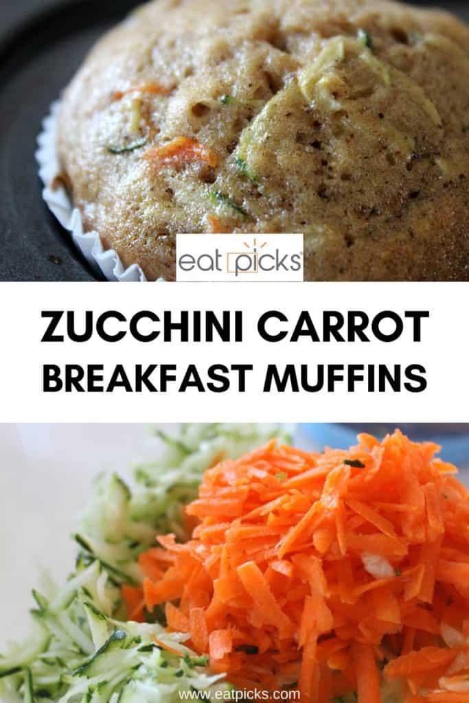 Zucchini Carrot Muffins in