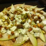 Pear Pistachio Pizza Appetizer