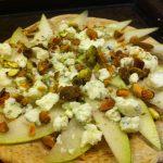 Pear Pistachio Pizza Appetizer