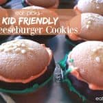 Kid Friendly Cheeseburger Cookies For Your Next Picnic!