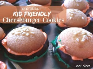 Kid Friendly cheeseburger-cookies