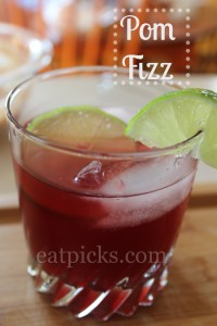 Easy Pom Fizz is a nice mocktail to serve during the holiday season.