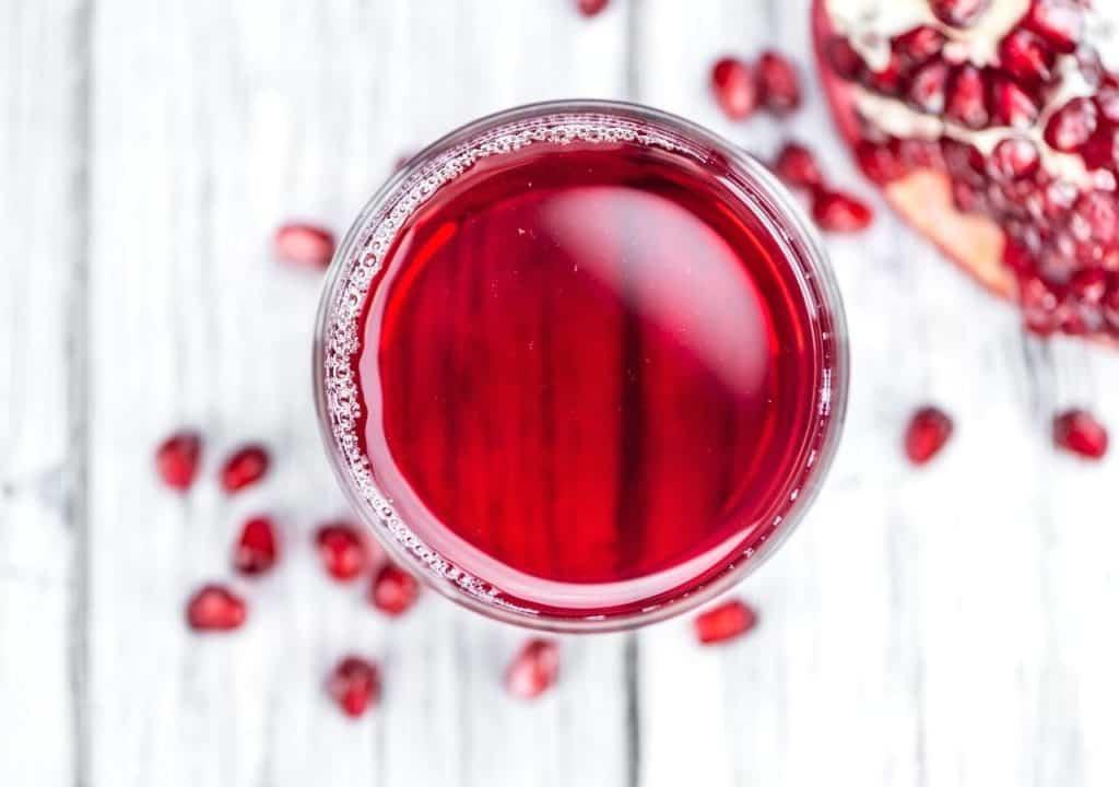 Pomegranate juice in glass