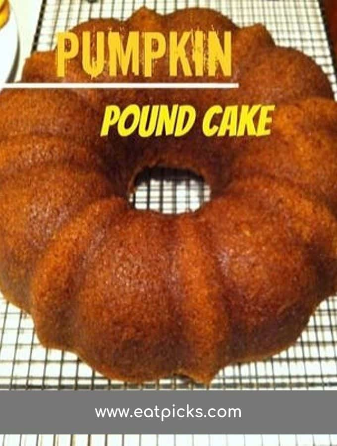 Pumpkin Pound Cake on Cooling rack