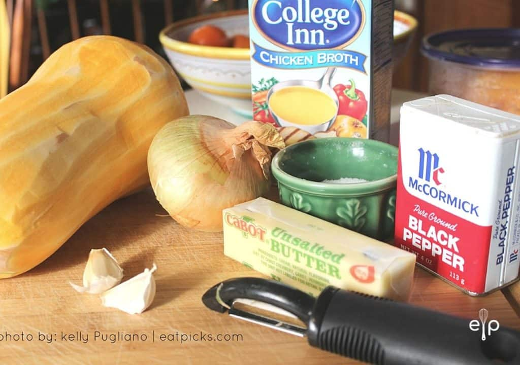 ingredients for easy squash soup