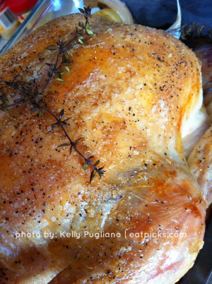 Roasted Chicken with Thyme is the perfect fall cozy meal to enjoy with family!
