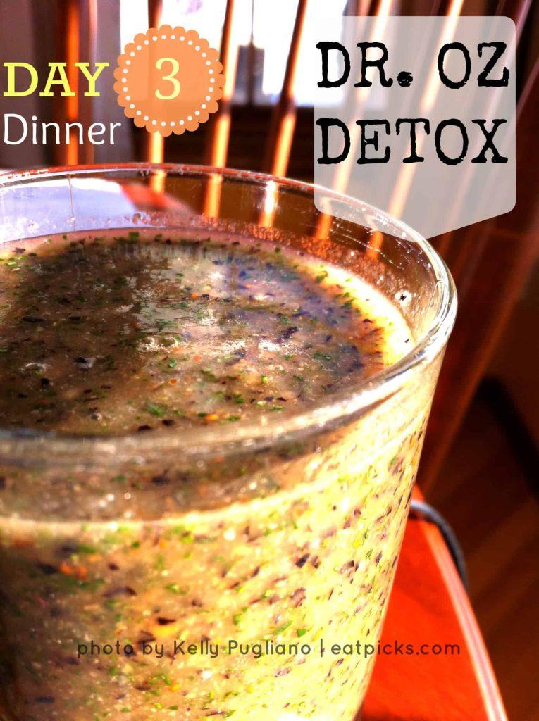 dr oz detox dinner smoothie