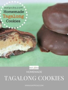 Homemade Tagalong Cookies are full of peanut butter, chocolate and sugar cookie!