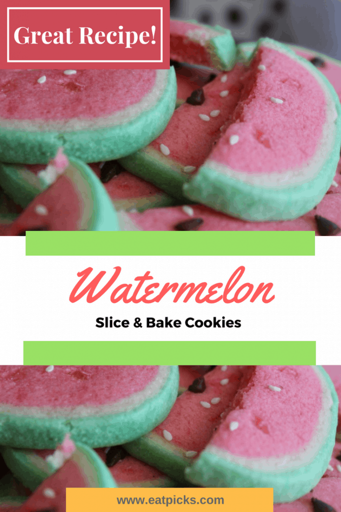 Watermelon Slice and Bake sugar Cookies for barbecue
