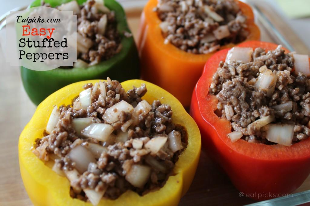 easy stuffed peppers dinner-eatpicks.com