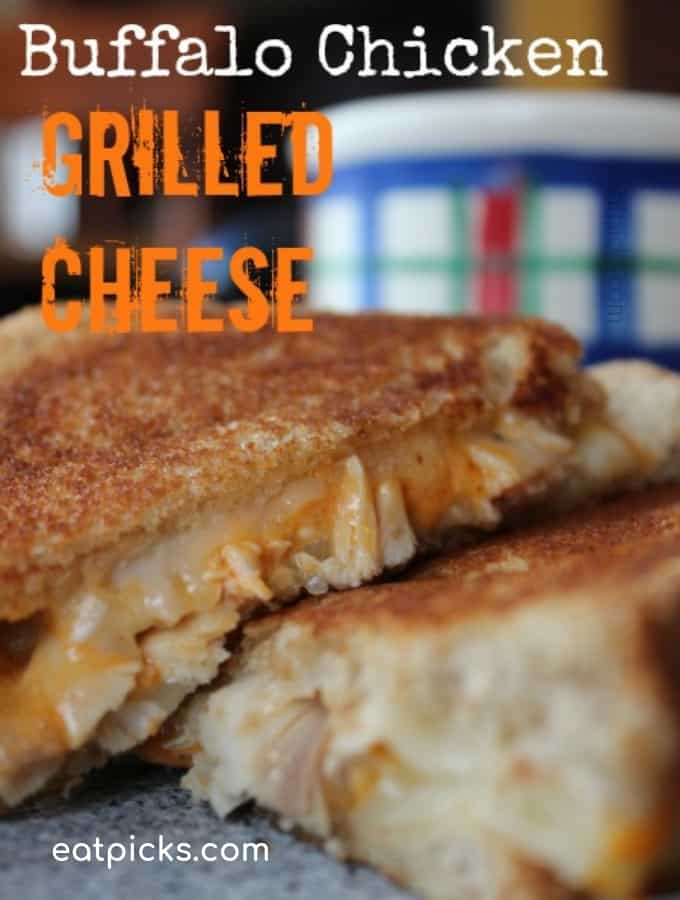 Buffalo Chicken Grilled Cheese Sandwich Featured