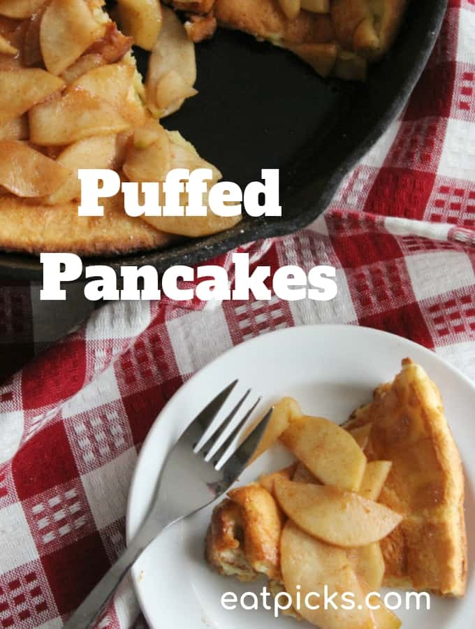 puffed pancakes are great for breakfast and also dessert! #Pancakes #breakfast #dessert