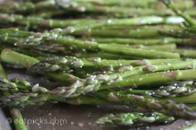 Asparagus Roasted on tray-eatpicks