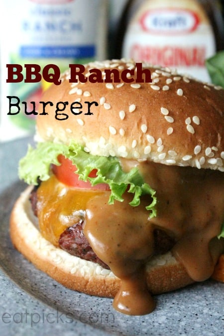 kraft bbq ranch burger