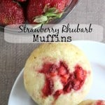strawberry rhubarb muffin