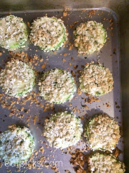 zucchini parm stacks on tray