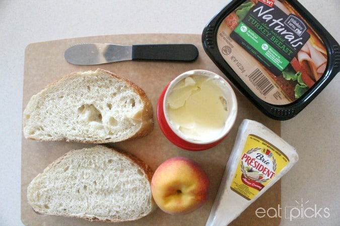 artisan turkey peach brie panini ingredients