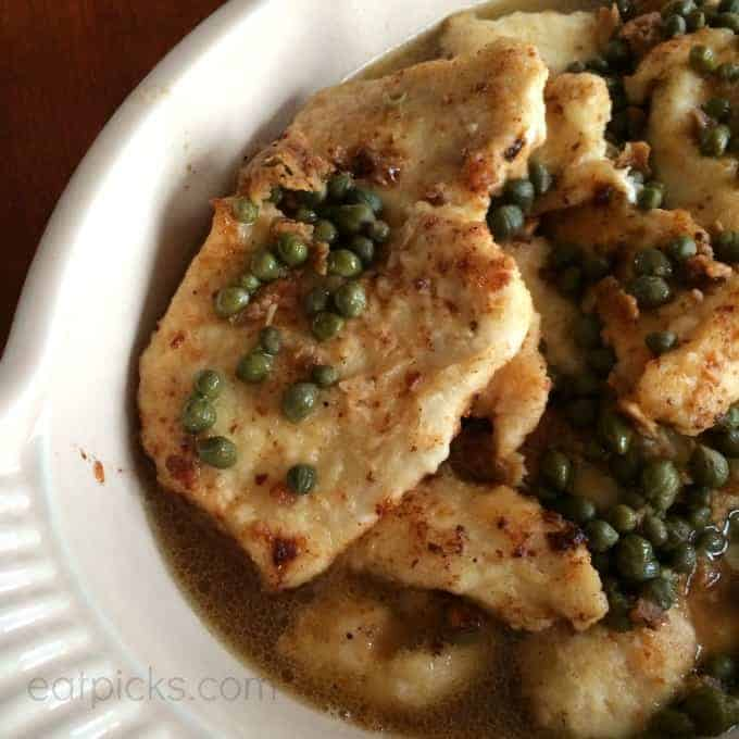 lemon garlic caper chicken eatpicks