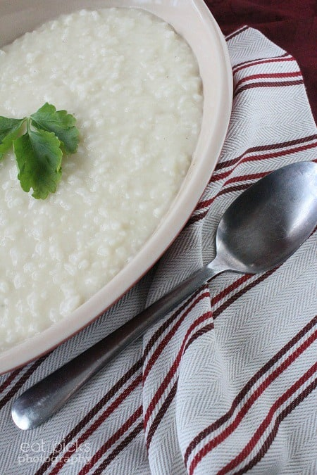 creamy risotto with spoon