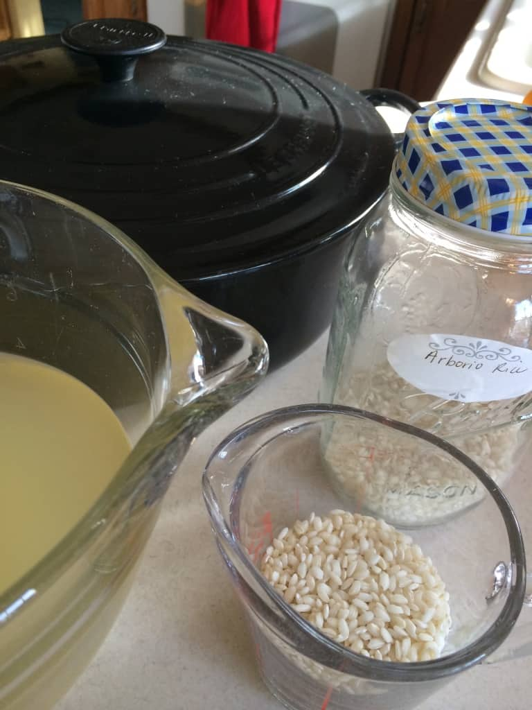 creamy risotto ingredients