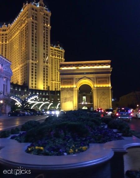 Paris Hotel Las Vegas Night