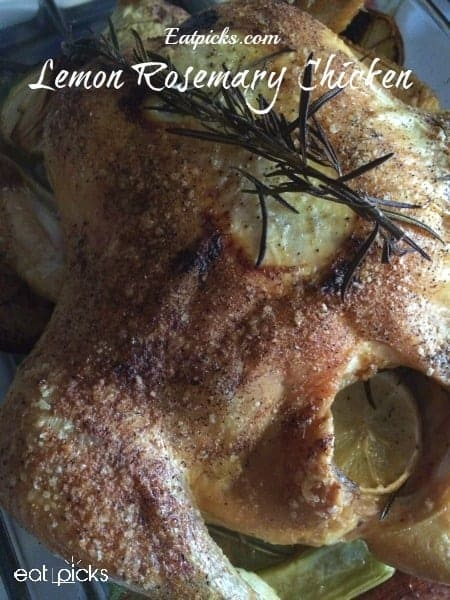 lemon rosemary roasted chicken is perfect comfort meal for weekly planning or for special dinner.