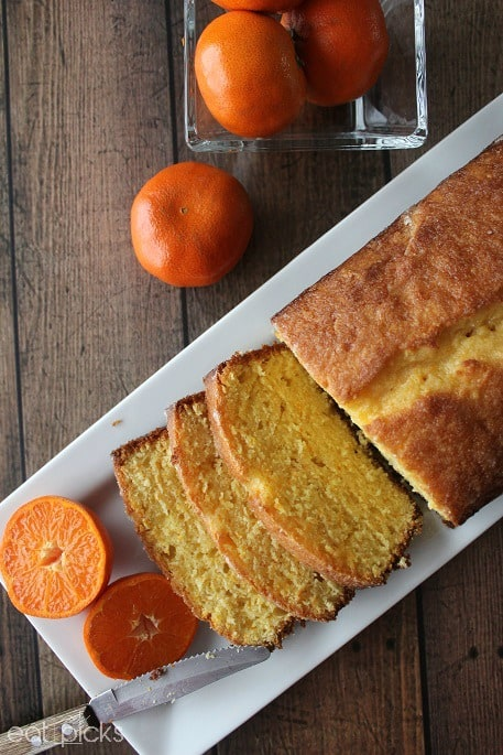 Clementine Cake on plate