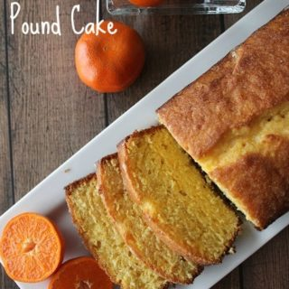 Clementine Pound Cake is a delicious taste of citrus and spring!