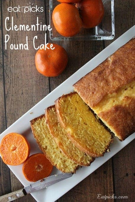 Clementine Pound Cake is light and sweet from clementine oranges complete with delicious glaze to serve on top.
