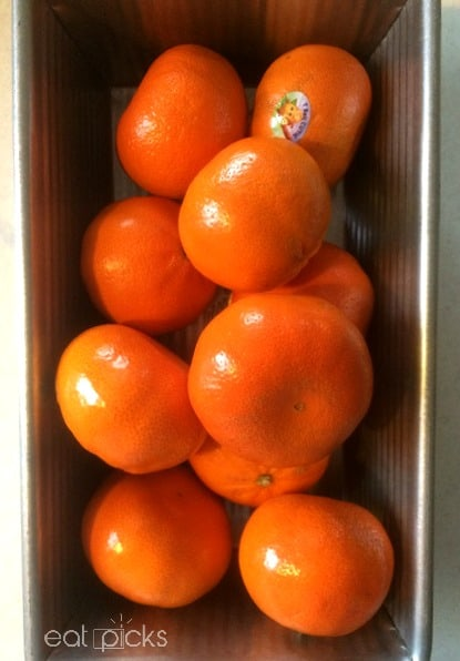 Clementines in a loaf pan