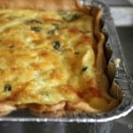 vegetable quiche in square pan makes serving this breakfast recipe a breeze!
