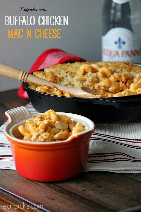 Buffalo Mac N Cheese in dish