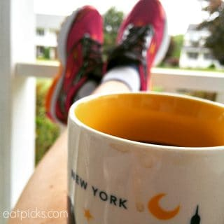 New York Coffee Mug on Porch