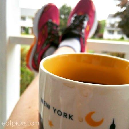 New York Coffee Mug on Porch