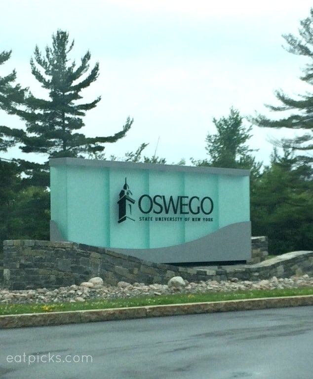 Oswego college sign