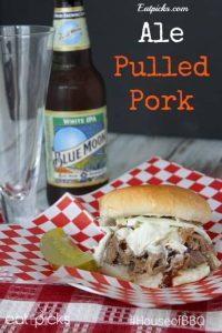 Redds ale pulled pork sandwhich ipa