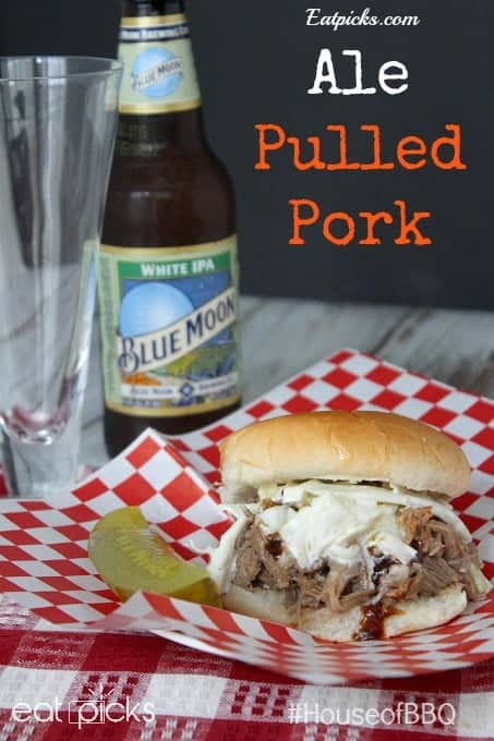 Redd's Apple Ale Pulled Pork #HouseofBBQ