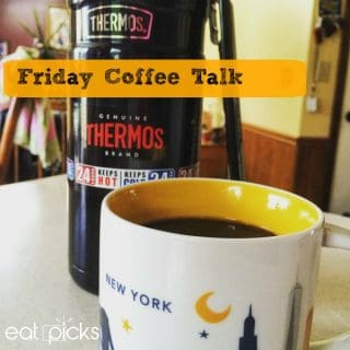 Thermos with Mug Friday Coffee Talk