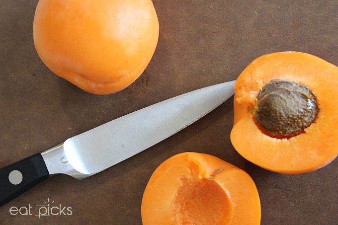 apricot sliced on board