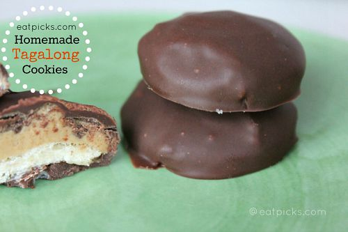 Homemade Tagalong Cookies are made with creamy peanut butter, short bread cookie and chocolate.